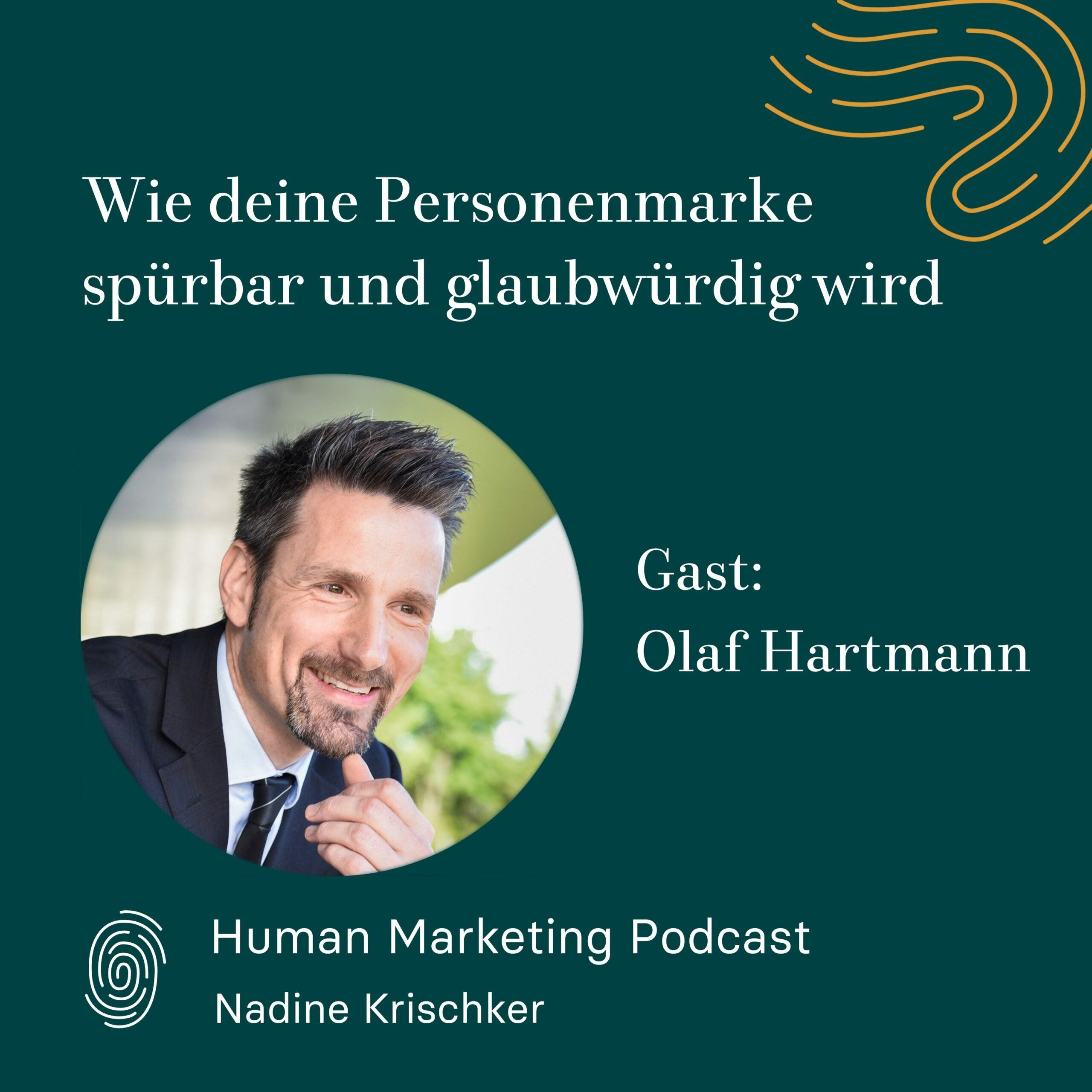Cover von Olaf Hartmann im Human Marketing Podcast